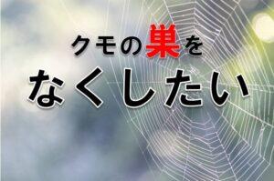 クモの巣をなくしたい